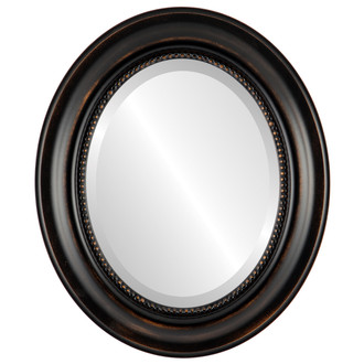 Beveled Mirror - Heritage Oval Frame - Rubbed Bronze