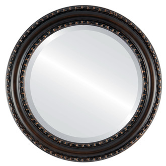 Beveled Mirror - Dorset Round Frame - Rubbed Bronze
