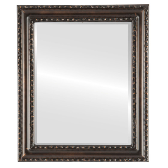 Beveled Mirror - Dorset Rectangle Frame - Rubbed Bronze