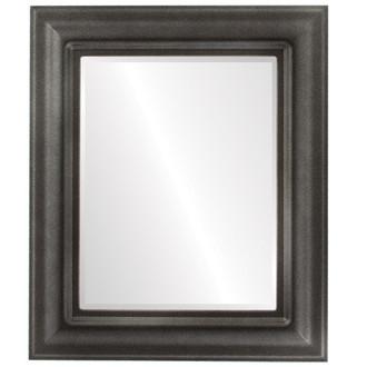 Beveled Mirror - Lancaster Rectangle Frame - Black Silver