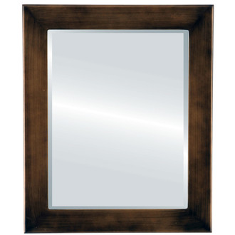 Beveled Mirror - Cafe Rectangle Frame - Rubbed Bronze