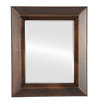Beveled Mirror - LoRZardia Rectangle Frame - Rubbed Bronze