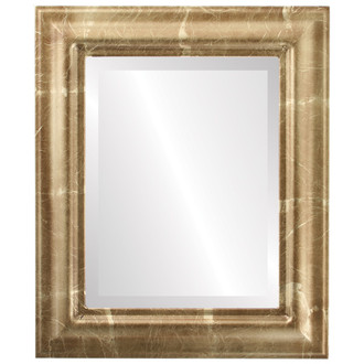 Beveled Mirror - Lancaster Rectangle Frame - Champagne Gold