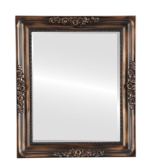 Beveled Mirror - Versailles Rectangle Frame - Rubbed Bronze