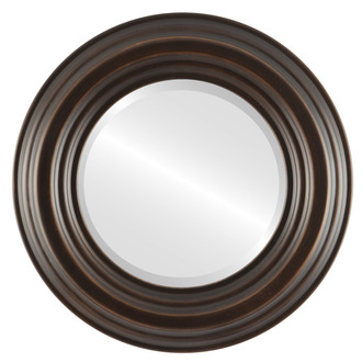 Beveled Mirror - Regalia Round Frame - Rubbed Bronze