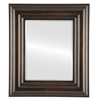 Beveled Mirror - Regalia Rectangle Frame - Rubbed Bronze