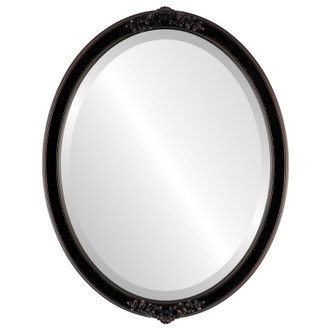 Beveled Mirror - Athena Oval Frame - Rubbed Bronze