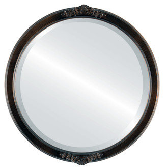 Beveled Mirror - Athena Round Frame - Rubbed Bronze