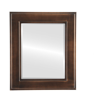 Beveled Mirror - Montreal Rectangle Frame - Rubbed Bronze