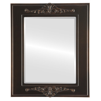Beveled Mirror - Ramino Rectangle Frame - Rubbed Bronze