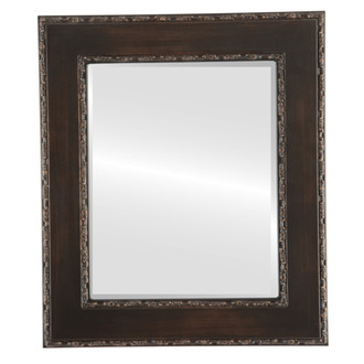 Beveled Mirror - Paris Rectangle Frame - Rubbed Bronze