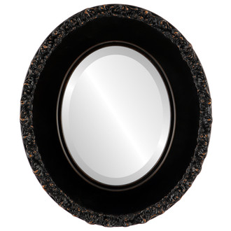 Beveled Mirror - Williamsburg Oval Frame - Rubbed Bronze