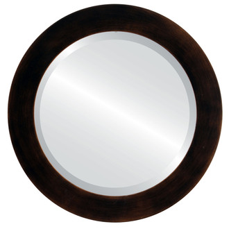 Beveled Mirror - Soho Round Frame - Rubbed Bronze