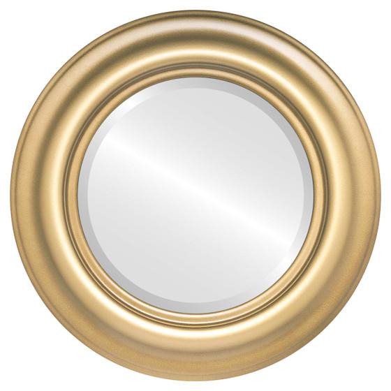 Beveled Mirror - Lancaster Round Frame - Desert Gold