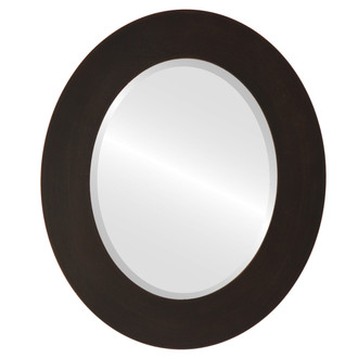 Beveled Mirror - Ashland Oval Frame - Rubbed Bronze