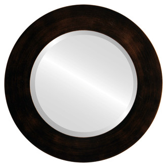 Beveled Mirror - Ashland Round Frame - Rubbed Bronze