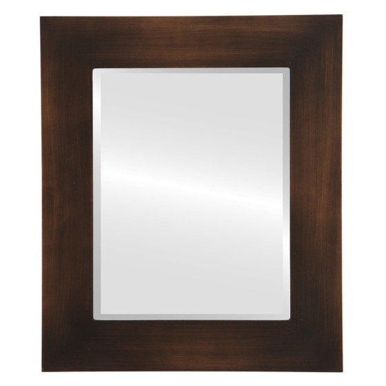 Beveled Mirror - Ashland Rectangle Frame - Rubbed Bronze