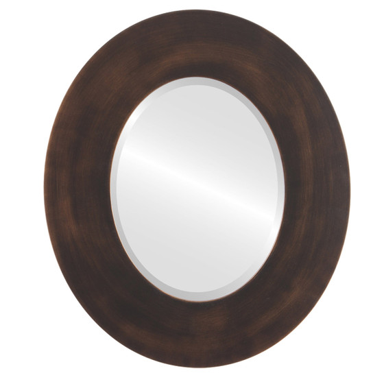 Beveled Mirror - Tribeca Oval Frame - Rubbed Bronze