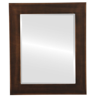 Beveled Mirror - Avenue Rectangle Frame - Rubbed Bronze