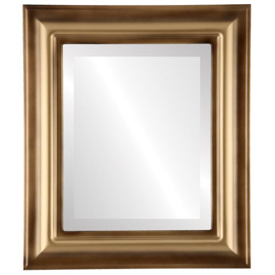 Beveled Mirror - Lancaster Rectangle Frame - Desert Gold