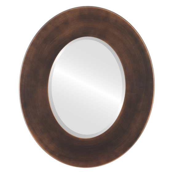 Beveled Mirror - Boulevard Oval Frame - Rubbed Bronze