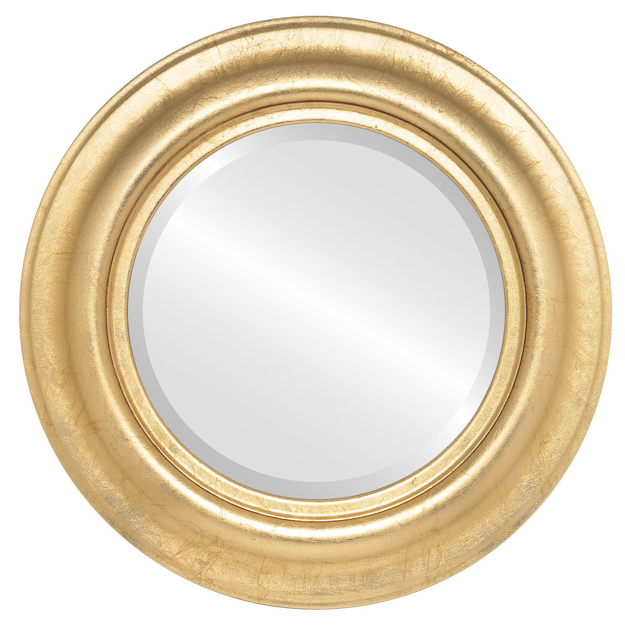 Contemporary Gold Round Mirrors from $142 | Free Shipping