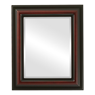 Beveled Mirror - Lancaster Rectangle Frame - Rosewood