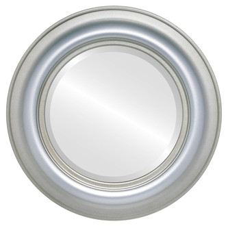 Beveled Mirror - Lancaster Round Frame - Silver Shade