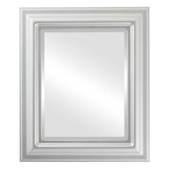 Beveled Mirror - Lancaster Rectangle Frame - Silver Spray