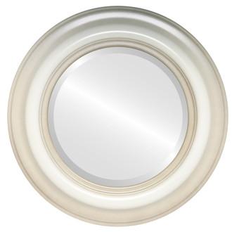 Beveled Mirror - Lancaster Round Frame - Taupe