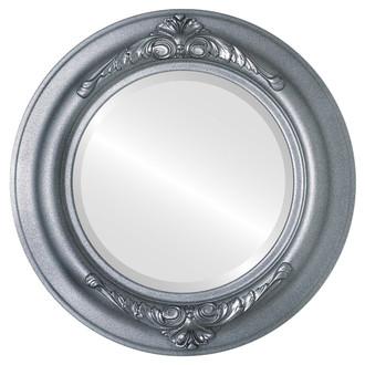 Beveled Mirror - Winchester Round Frame - Black Silver