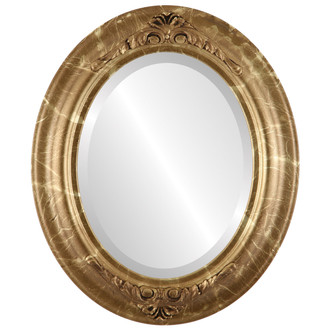 Beveled Mirror - Winchester Oval Frame - Champagne Gold