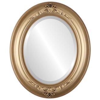 Beveled Mirror - Winchester Oval Frame - Desert Gold