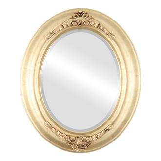 Beveled Mirror - Winchester Oval Frame - Gold Leaf
