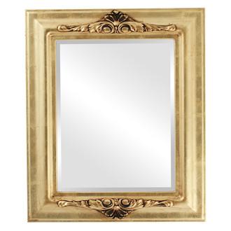 Beveled Mirror - Winchester Rectangle Frame - Gold Leaf
