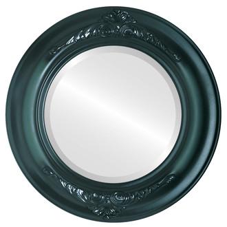 Beveled Mirror - Winchester Round Frame - Hunter Green