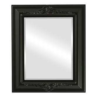 Beveled Mirror - Winchester Rectangle Frame - Matte Black