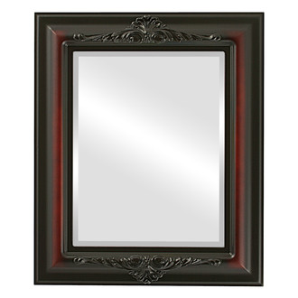 Beveled Mirror - Winchester Rectangle Frame - Rosewood
