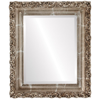 Beveled Mirror - Venice Rectangle Frame - Champagne Silver