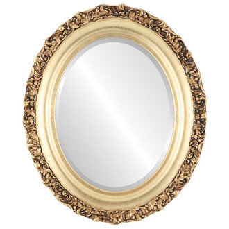 Beveled Mirror - Venice Oval Frame - Gold Leaf