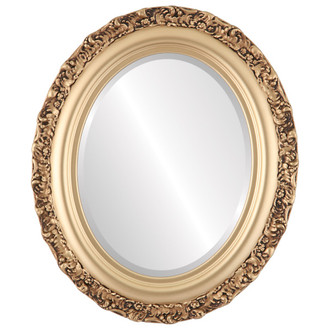 Beveled Mirror - Venice Oval Frame - Gold Spray
