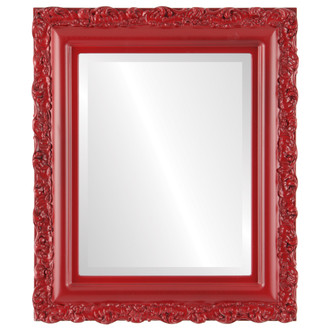 Beveled Mirror - Venice Rectangle Frame - Holiday Red