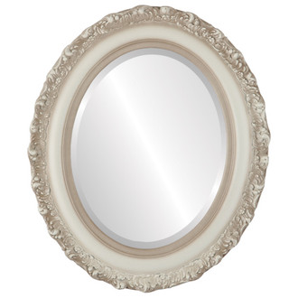 Beveled Mirror - Venice Oval Frame - Taupe