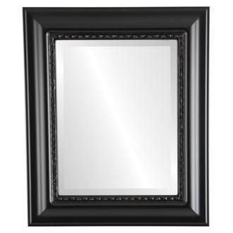 Beveled Mirror - Chicago Rectangle Frame - Matte Black