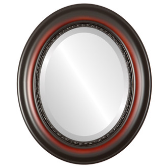 Beveled Mirror - Chicago Oval Frame - Rosewood