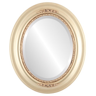 Beveled Mirror - Boston Oval Frame - Desert Gold