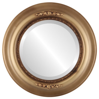 Beveled Mirror - Boston Round Frame - Desert Gold
