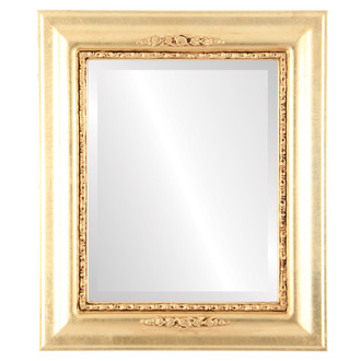 Beveled Mirror - Boston Rectangle Frame - Gold Leaf