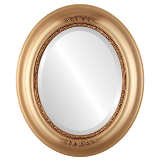 Beveled Mirror - Boston Oval Frame - Gold Spray
