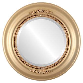 Beveled Mirror - Boston Round Frame - Gold Spray